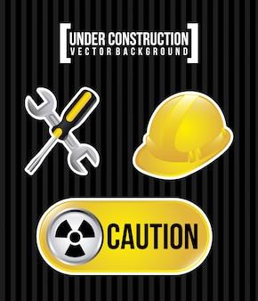 Em construção sobre fundo preto