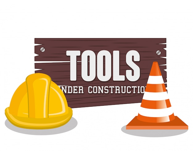 Em ilustração de construção