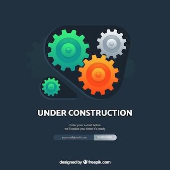 Em modelo de construção em estilo plano
