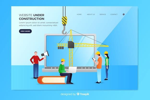Em modelo de página de destino de construção