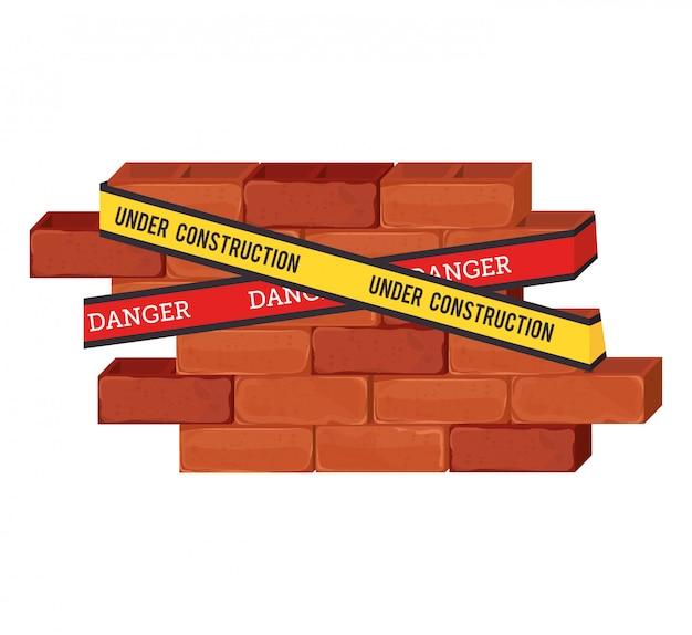 Em tijolos de construção