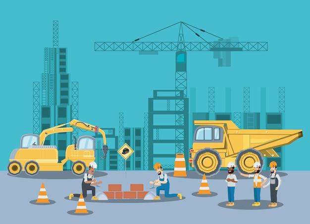 Em zona de construção