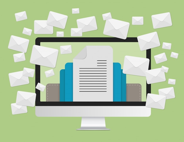 Email marketing conceito
