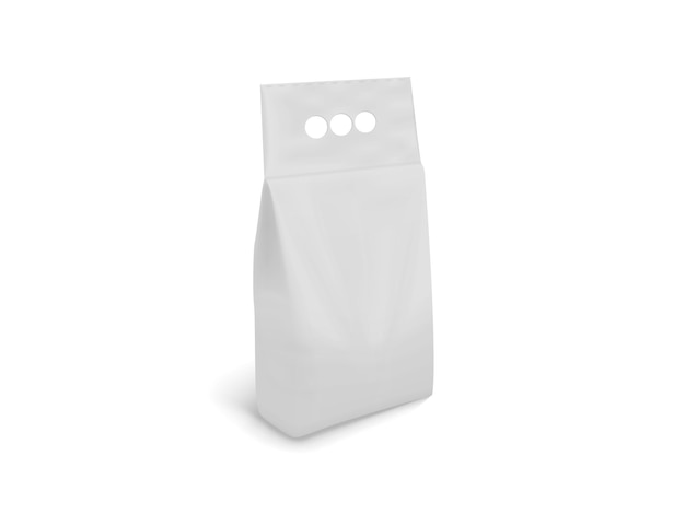 Embalagem branca em branco isolada