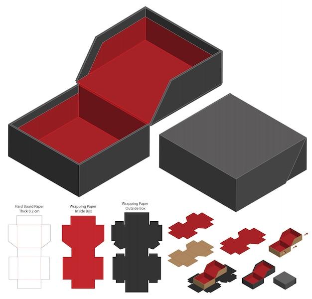 Embalagem caixa de design de modelo de corte.