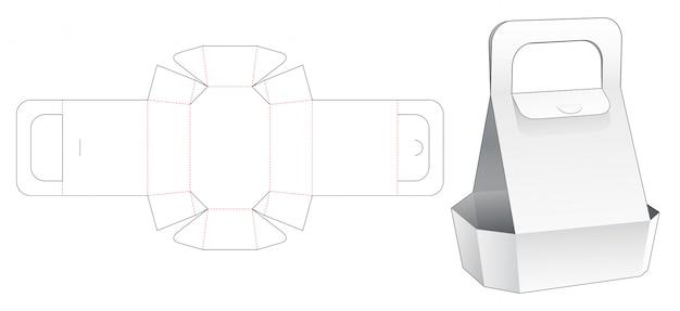 Embalagem de bandeja com alça de corte modelo