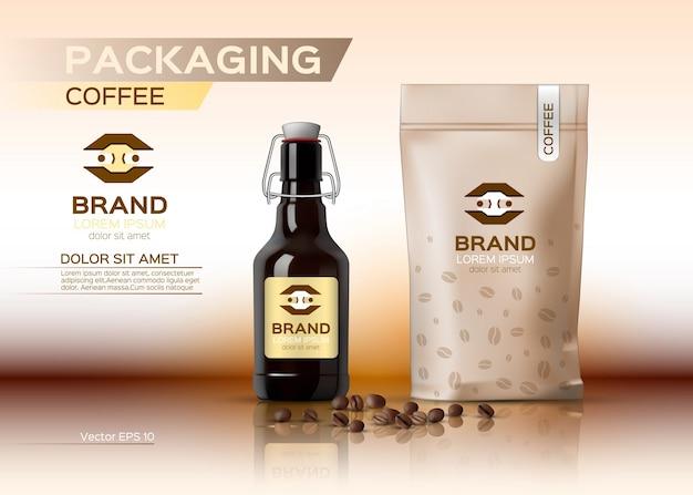 Embalagem de café se maquete