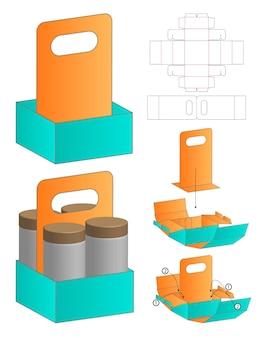 Embalagem de caixa de molde recortado modelo de maquete 3d