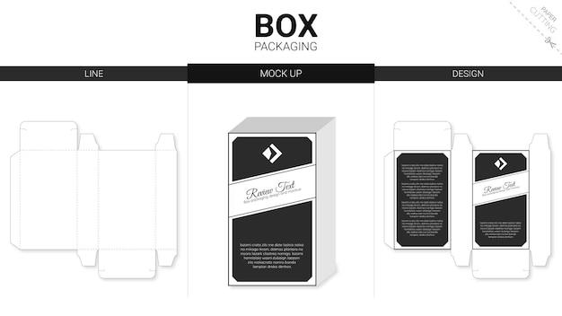 Embalagem de caixa e modelo de corte e vinco