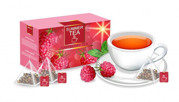 Embalagem de chá mock up