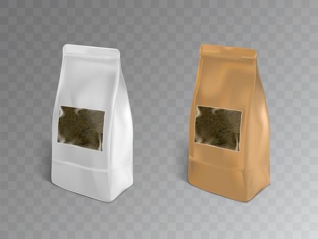 Embalagem de chá preto, verde ou de ervas