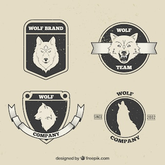 Embalagem de cravos do lobo vintage