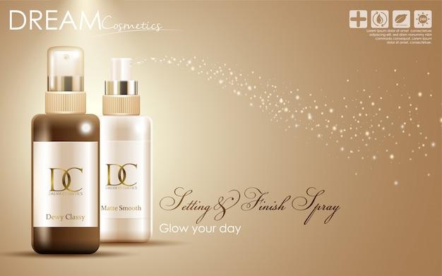 Embalagem de creme de cuidado de pele de soro cosmético
