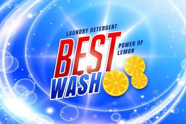 Embalagem de detergente para a melhor lavagem