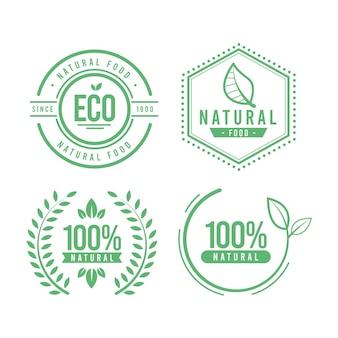 Embalagem de etiqueta 100% natural