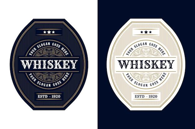 Embalagem de etiquetas de logotipo vintage de quadros de luxo