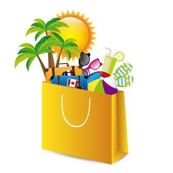 Embalagem de férias
