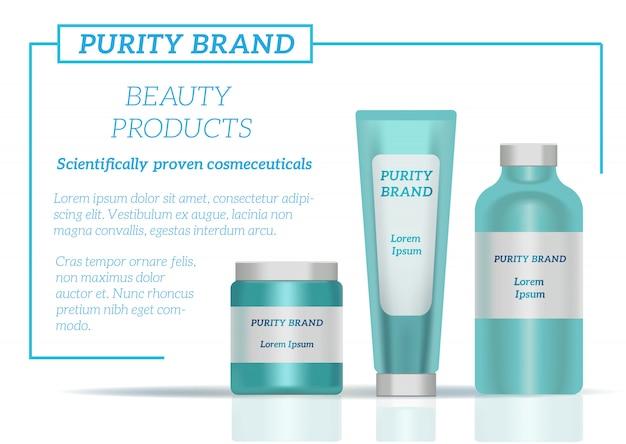 Embalagem de frascos de cosméticos