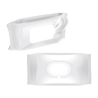 Embalagem de lenços umedecidos mock up.