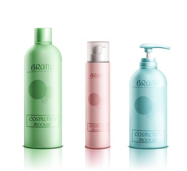 Embalagem de linha de produtos de cosméticos skincare