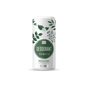 Embalagem de modelo de marca de cosméticos orgânicos