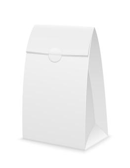 Embalagem de papel branco em branco