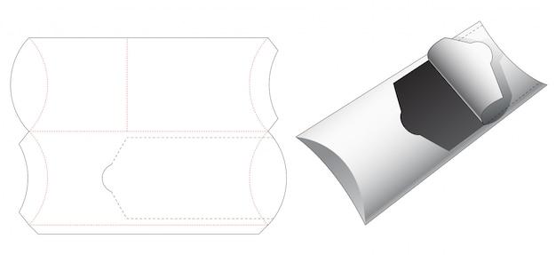 Embalagem de petisco com zíper modelo cortado