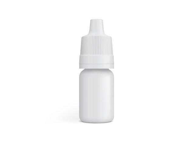 Embalagem de plástico branco isolada