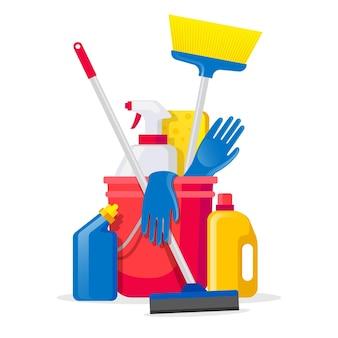 Embalagem de produtos para limpeza de superfícies