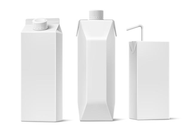 Embalagem de recipiente em branco para suco realista