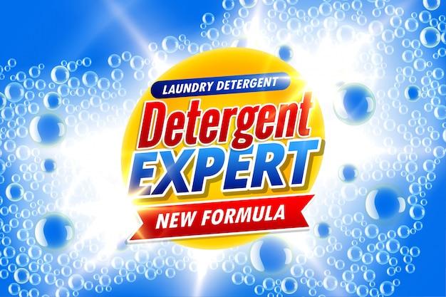 Embalagem de sabão em pó para especialista em detergentes