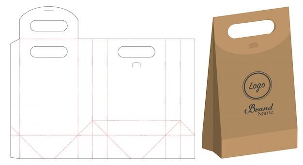 Embalagem de saco de papel cortado