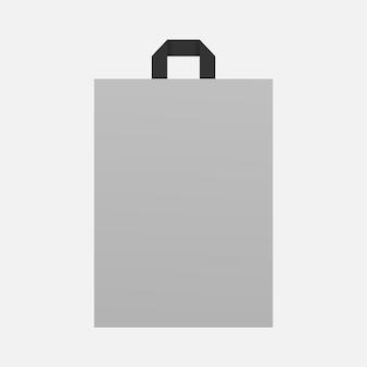 Embalagem de sacola de papel. maquete de sacola de compras vazia. maquete isolada. modelo de design. ilustração vetorial realista