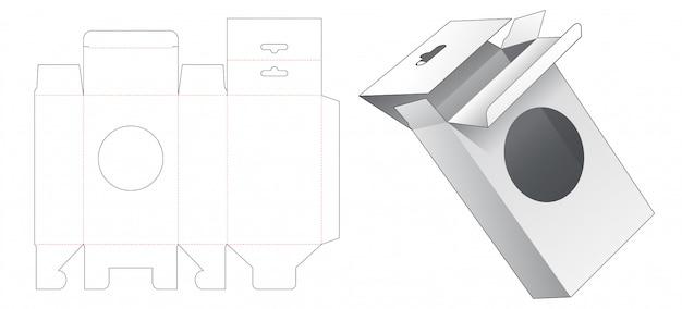 Embalagem de suspensão com janela de círculo cortado modelo