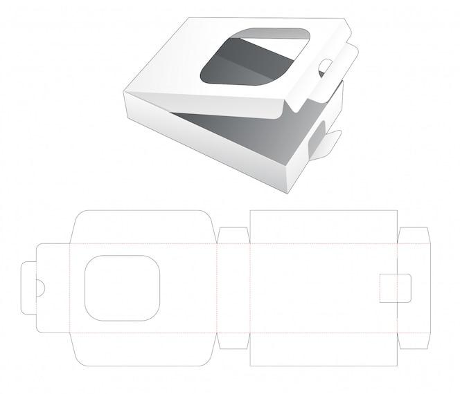 Embalagem de varejo com modelo de janela cortada