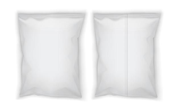 Embalagem em branco branca isolada no branco