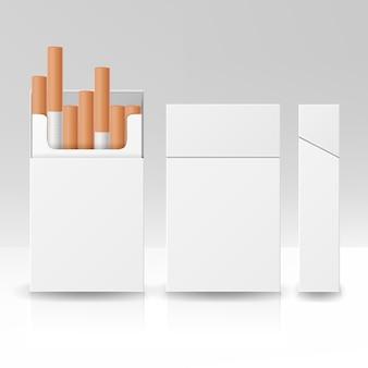 Embalagem em branco pacote caixa de cigarros