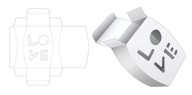 Embalagem em forma de jarra com modelo de janela cortada