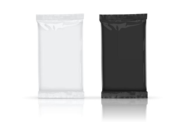 Embalagem paperwhite e black flow com sombras transparentes