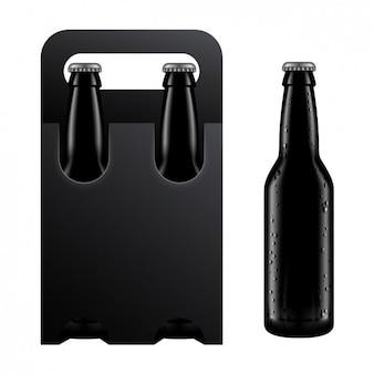 Embalagem preta de uma bebida