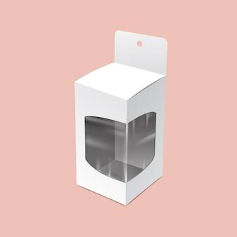 Embalagem suspensa com simulação de janela