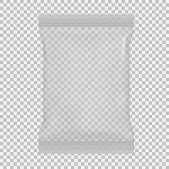 Embalagem transparente 3d para salgadinhos, batatas fritas, açúcar, especiarias,