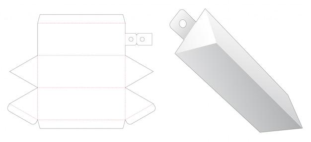 Embalagem triangular com molde cortado