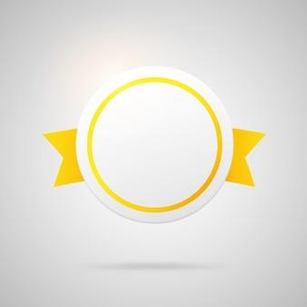 Emblema amarelo circular