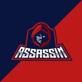 Emblema assassin esport e logotipo esportivo