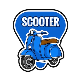 Emblema azul de scooter