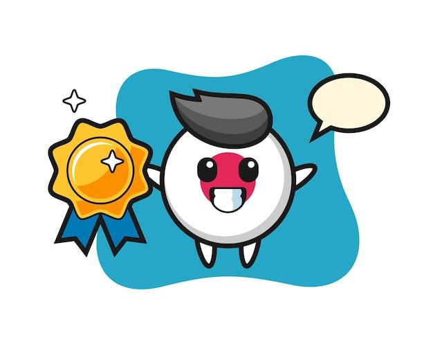 Emblema da bandeira do japão, design de estilo fofo para camiseta, adesivo, elemento de logotipo