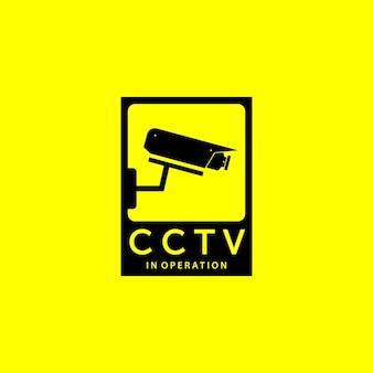 Emblema da cctv secure cam logo vector design ilustração vintage, proteção de vigilância, guarda cctv