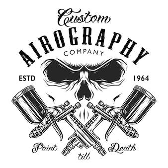 Emblema da empresa de aerografia personalizada