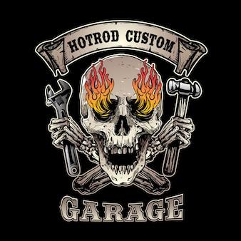 Emblema da motocicleta retro
